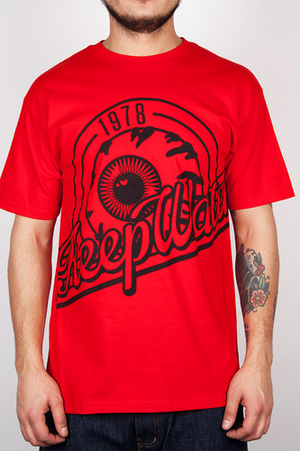 Футболка MISHKA Altitude Keep Watch Tee (Red, S) men ombre tee with drawstring shorts