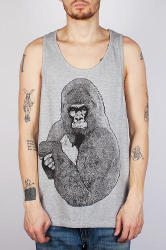 Майка SUPREMEBEING Silver Gorilla Vest (Heather-9049, 2XL) цены онлайн