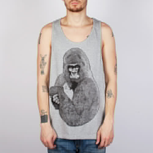 лучшая цена Майка SUPREMEBEING Silver Gorilla Vest (Heather-9049, 2XL)