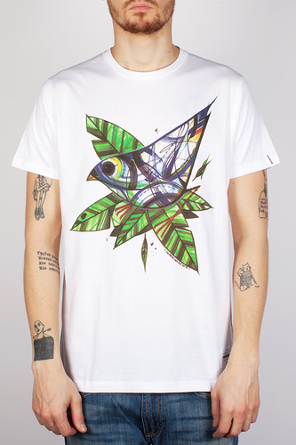 Футболка SUPREMEBEING Dice Bird (White-8996, XL)