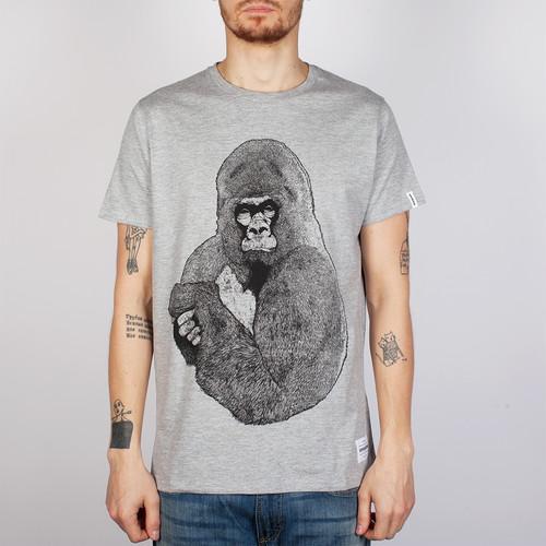 Футболка SUPREMEBEING Silver Gorilla (Heather-9051, 2XL)