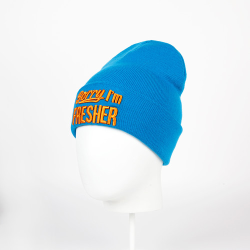 Шапка TRUESPIN Sorry Beanies (Turquoise/Orange) шапка truespin neon pom 2 tone black orange
