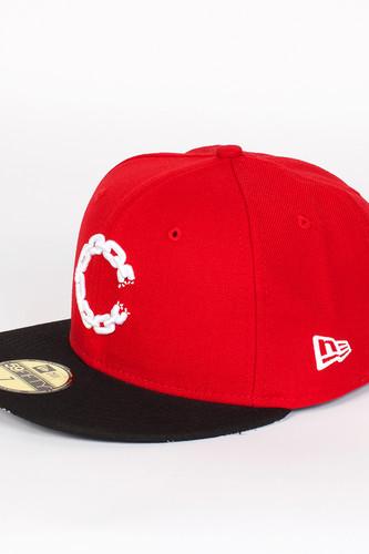Бейсболка CROOKS & CASTLES Chain C Fitted Cap (True-Red-Black, 7 1/4)