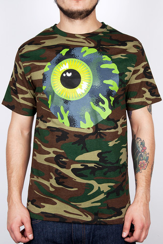 Футболка MISHKA Kirby Camo Keep Watch Tee (Camo, L) толстовка mishka kirby camo keep watch pullover hoodie black m
