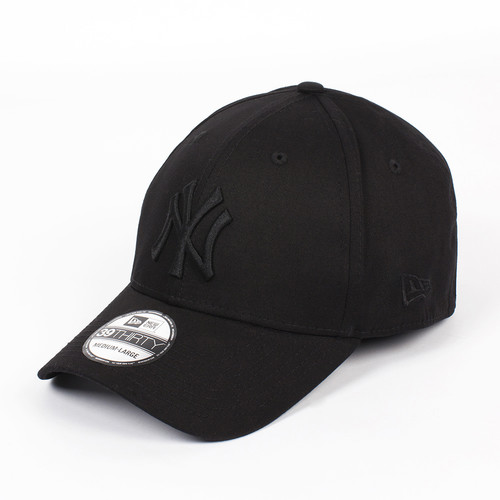Бейсболка NEW ERA 39Thirty League Basic NY BB (Black-Black, M/L) бейсболка new era 940 league basic ny scarlet white o s