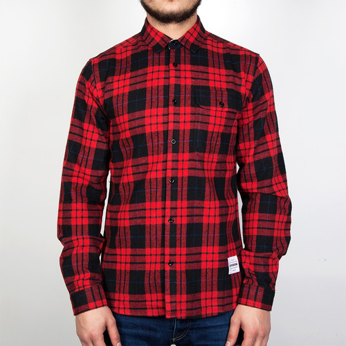 Рубашка SUPREMEBEING Hurricane (Red Check-9457, S)