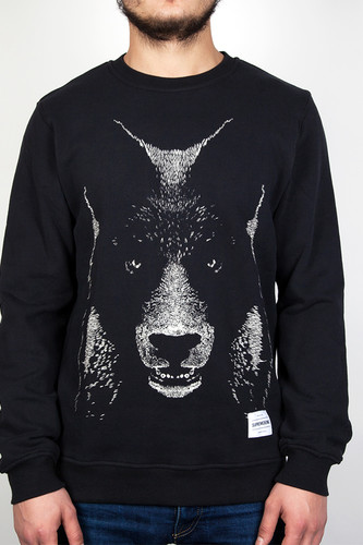 Толстовка SUPREMEBEING Bearwolf Crew (Black-9642, XL) толстовка supremebeing colours crew black 9643 xl