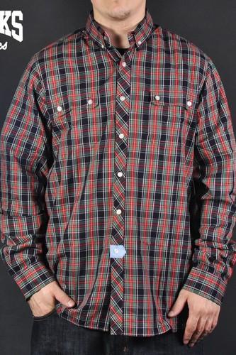 Рубашка CROOKS & CASTLES Lumberjack (Black, 2XL)