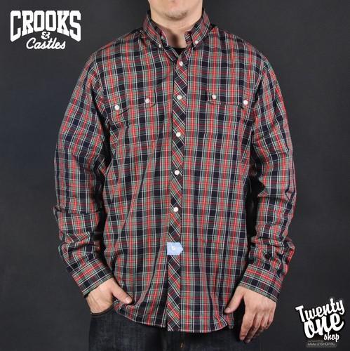 цены на Рубашка CROOKS & CASTLES Lumberjack (Black, 2XL)  в интернет-магазинах