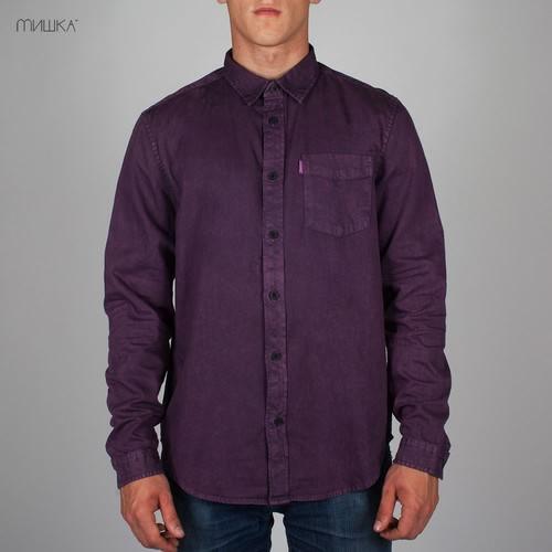 Рубашка MISHKA Acid Rain (Purple-Rain, L) цены онлайн