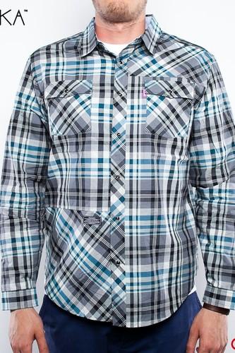 Рубашка MISHKA Eastwood Poplin Shirt (Grasshopper-Green, S)