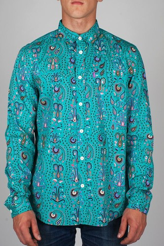 Рубашка MISHKA Kashmir (Teal, L) рубашка mishka duck hunt button up tan l