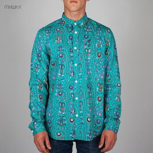 купить Рубашка MISHKA Kashmir (Teal, L) по цене 1388 рублей