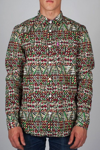 Рубашка MISHKA King Jaffe (Earth, L) рубашка mishka duck hunt button up tan l
