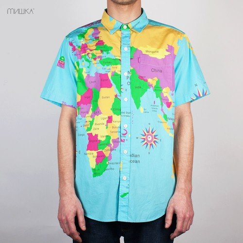 купить Рубашка MISHKA SP141402B (World-Blue, S) по цене 1380 рублей