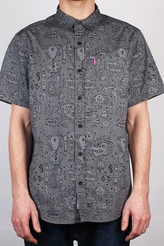 Рубашка MISHKA Hella Stuff Button Up (Black, XL) рубашка mishka duck hunt button up tan l