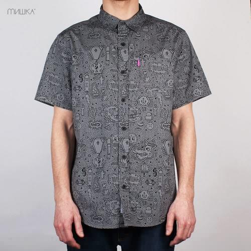Рубашка MISHKA Hella Stuff Button Up (Black, XL) цена