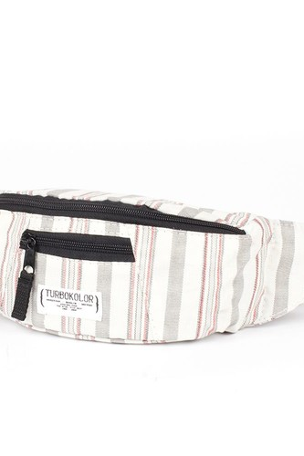 Сумка TURBOKOLOR Hip-Bag Standart FW13 (White-Grey-Striped) unicorn print striped makeup bag