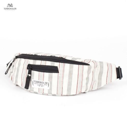 Сумка TURBOKOLOR Hip-Bag Standart FW13 (White-Grey-Striped)
