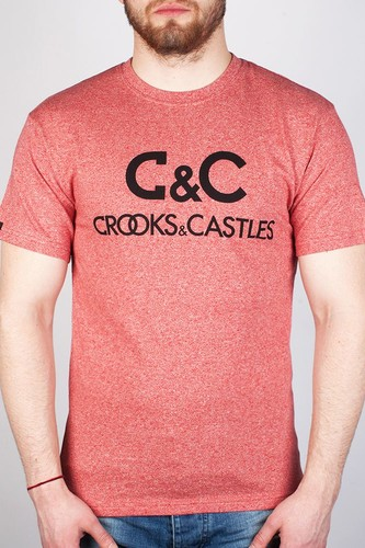 Футболка CROOKS & CASTLES Regal (Speckle-Red, S) футболка dc bloomington red regal rags