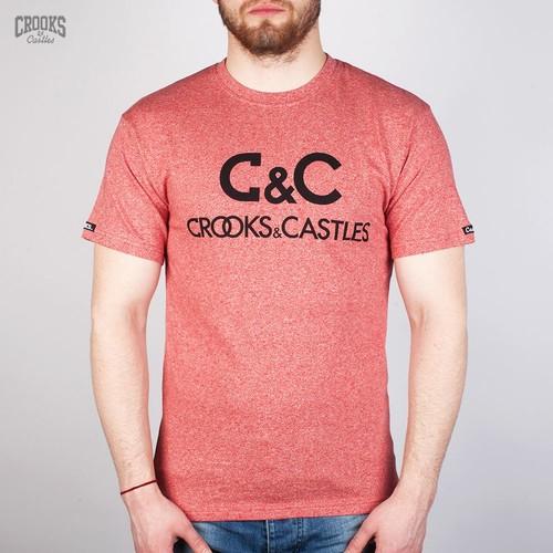 Футболка CROOKS & CASTLES Regal (Speckle-Red, S) футболка dc bloomington red regal rags