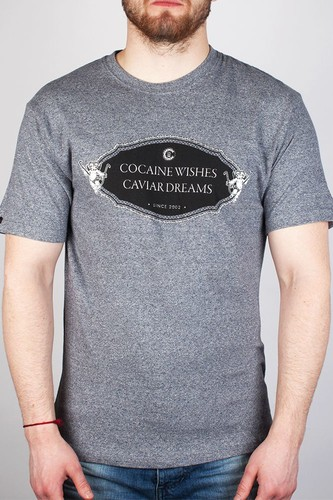 Футболка CROOKS & CASTLES Rich And Shameless (Speckle-Navy, S)
