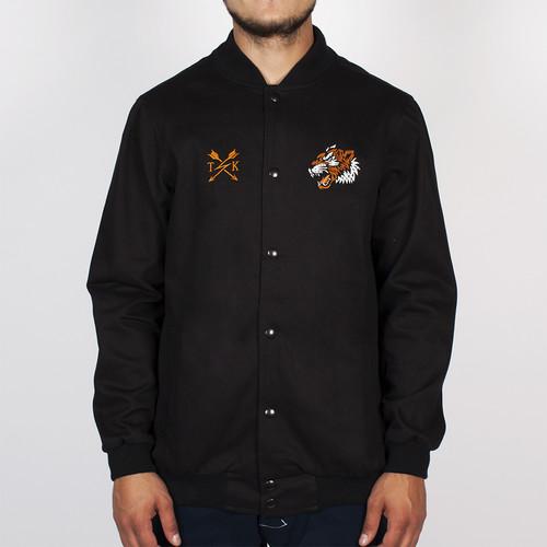 Куртка TURBOKOLOR Light Varsity Jacket Real Hard SS14 (Black-Graphite, L) цена 2017