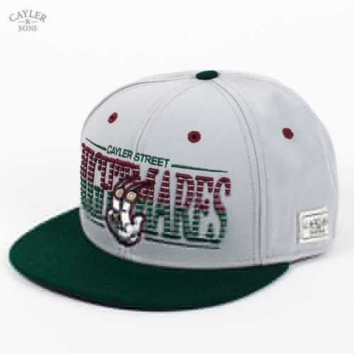 Бейсболка CAYLER & SONS Nightmares Cap (Grey-Maroon-Forest-Green, O/S) бейсболка iriedaily patch snap cap maroon melange 296 o s