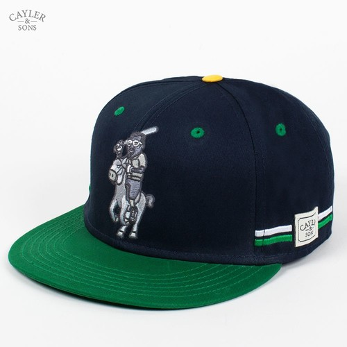 Бейсболка CAYLER & SONS Yolo Cap (Navy-Green-Yellow, O/S)