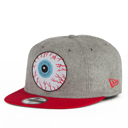 Бейсболка MISHKA New Era Throwback (Grey-Red, 7 3/4) бейсболка mishka kill with power ne 5950 black 7 3 8