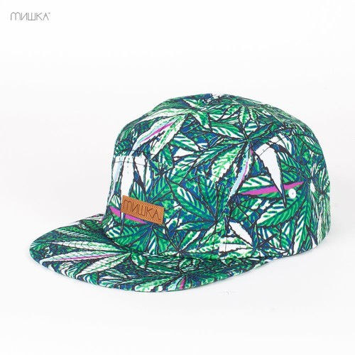 Бейсболка MISHKA Nice Guy 5-Panel (Hydro-Green, O/S) бейсболка mishka chaifned 5 panel black o s