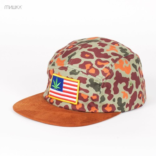 Бейсболка MISHKA Patterson 5-Panel (Tan, O/S) бейсболка mishka chaifned 5 panel black o s