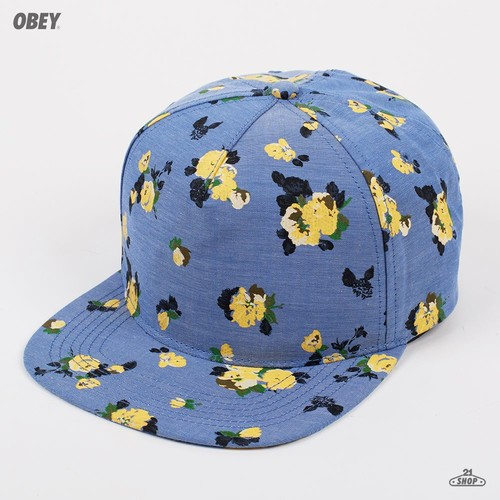 Бейсболка OBEY Meadow Lark II (Indigo-Chambray, O/S) бейсболка obey washington 5 panel olive o s