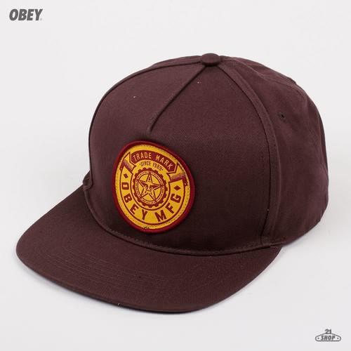 Бейсболка OBEY Trademark Snapback (Fudge, O/S) бейсболка obey willard snapback splatter camo o s