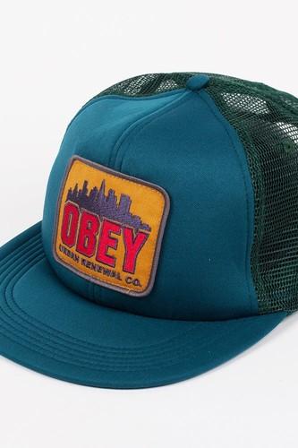 цена на Бейсболка OBEY Urban Renewal Trucker (Dark Spruce, O/S)