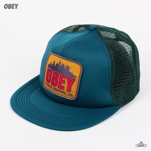 Бейсболка OBEY Urban Renewal Trucker (Dark Spruce, O/S) бейсболка obey washington 5 panel olive o s