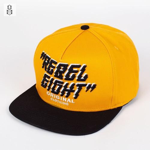 Бейсболка REBEL8 Original (Yellow-Black-Black, O/S) цены