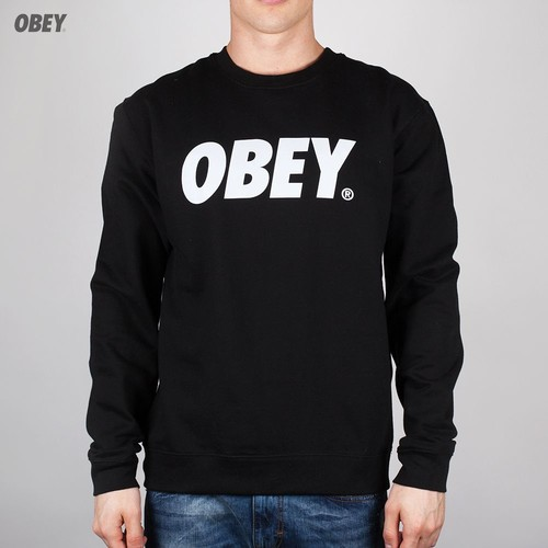Толстовка OBEY Font (Black, XL) футболка obey youth crew black xl