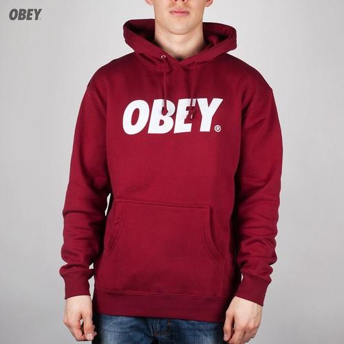 Толстовка OBEY Font Hoodie (Cardinal, L) толстовка obey paranoia maroon l