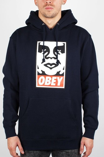 Толстовка OBEY Icon Face Pullover (Navy, S)