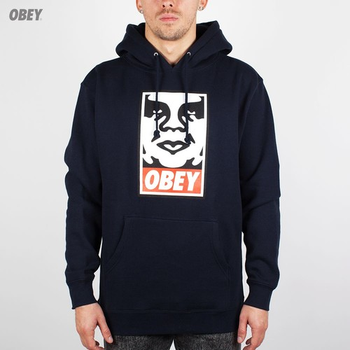 Толстовка OBEY Icon Face Pullover (Navy, S) цена и фото