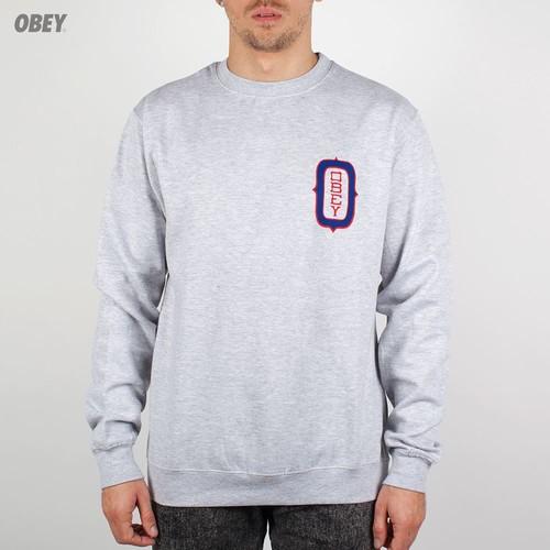 Толстовка OBEY O Monogram (Heather-Grey, XL) стоимость