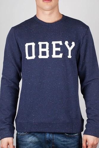 Толстовка OBEY Slider (Navy, L) толстовка obey core zip hood tiger camo l