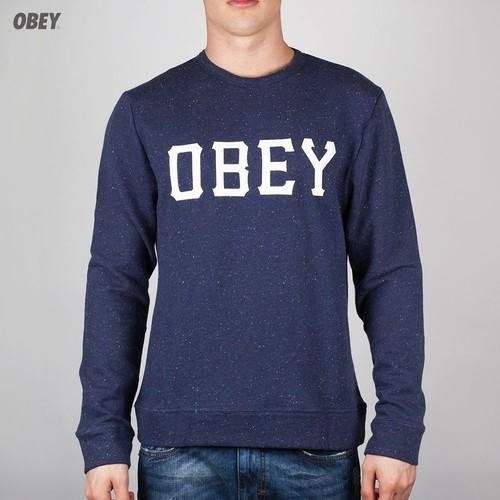 Толстовка OBEY Slider (Navy, L) толстовка obey paranoia maroon l