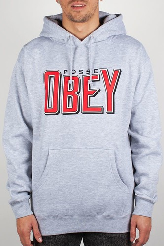 Толстовка OBEY Snake Bite (Heather-Grey, S) все цены
