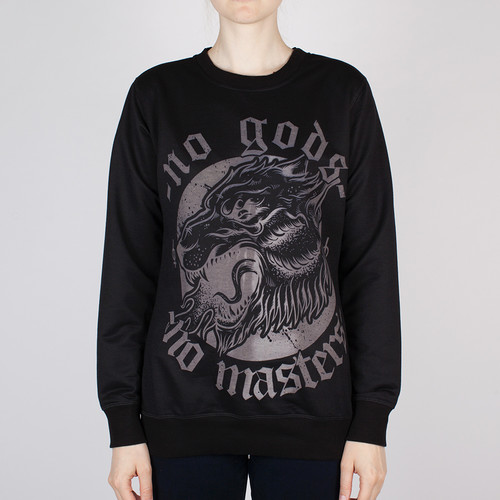 цены на Толстовка OUTCAST W No gods No masters (Черный, M)  в интернет-магазинах