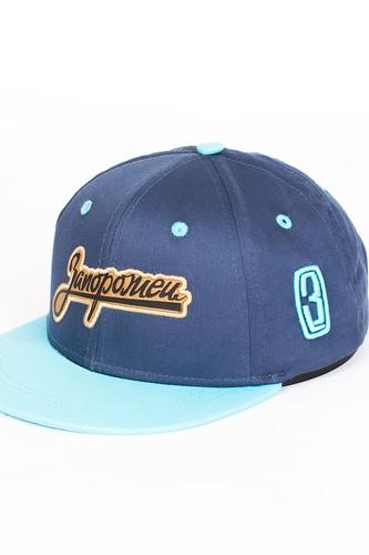 Бейсболка ЗАПОРОЖЕЦ Zap Logo детская (Navy/Light Blue, O/S) цена и фото