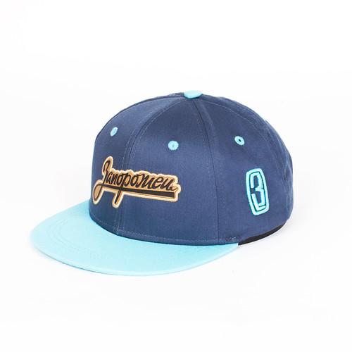 Бейсболка ЗАПОРОЖЕЦ Zap Logo детская (Navy/Light Blue, O/S) nobrand 12379 s light blue