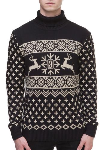 Свитер ЗАПОРОЖЕЦ Deer (Black, L) свитер запорожец deer x helga grey blue xl