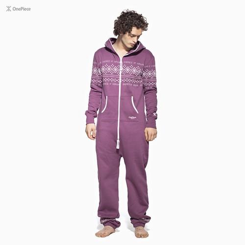 Комбинезон ONEPIECE Lusekofte Jumpsuit (Wine/Purple, M)